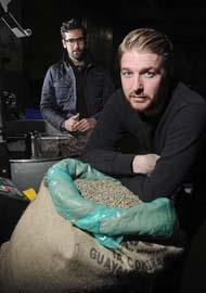 ReAnimator Coffee's Mark Corpus (left) and Mark Capriotti used Lucky Ant to kick off their business.