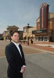 Brandolini leasing agent David Waterman visits the Providence Town Center in Collegeville.
