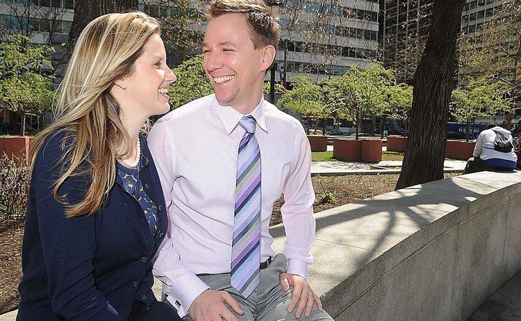 Brieanna and Jonathan Wheeland both graduated Drexel Law School last year. So far only Brieanna has found a paying job as an attorney.