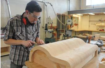Keith Hatton of Philadelphia works on a project at Philadelphia Woodworks.