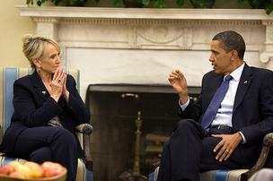 Jan Brewer and Barack Obama disagree over Arizona's SB 1070 immigration law.