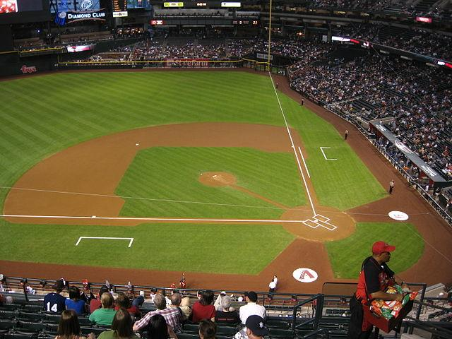 On average, Chase Field has been 55 percent filled at games this year.