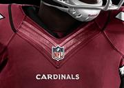 The new neckline of the Arizona Cardinals jersey from Nike.