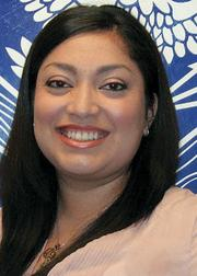 Karen Cruz. Title: Medical social worker. Company: Arizona State Veteran Home. First job: Family counselor for Friendly House.