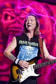 Dave Murray, guitarist for heavy metal group Iron Maiden, is another among the Stratocaster players.