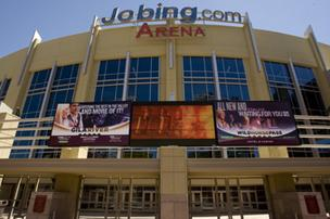 Jobing.com Arena in Glendale, home of the Phoenix Coyotes.