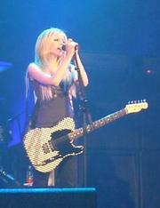 Canadian pop star Avril Lavigne has her own line of Squire guitars through Fender.