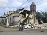 Some buildings were already damaged by a recent earthquake and other storms that hit the Asian archipelago.