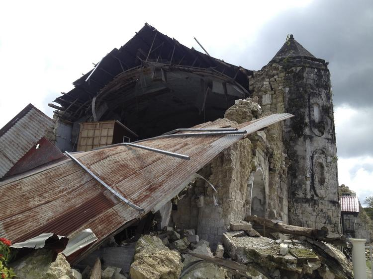 Historic churches built by the Spanish over 400 years ago are in ruins after Typhoon Haiyan carved a destructive path through the Philippines.