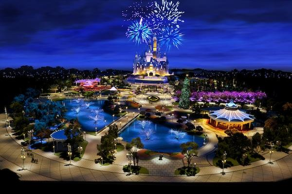 A rendering of Shanghai Disney that was first revealed at Walt Disney Co.'s annual shareholder meeting in Phoenix Wednesday.
