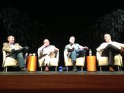 Angel investors, from left, Michael Wolf, Thomas Blondi, Rick Gibson and Bill Miller give advice about how to work with angel investors at the Innovation Arizona summit Tuesday at Tempe Center for the Arts.