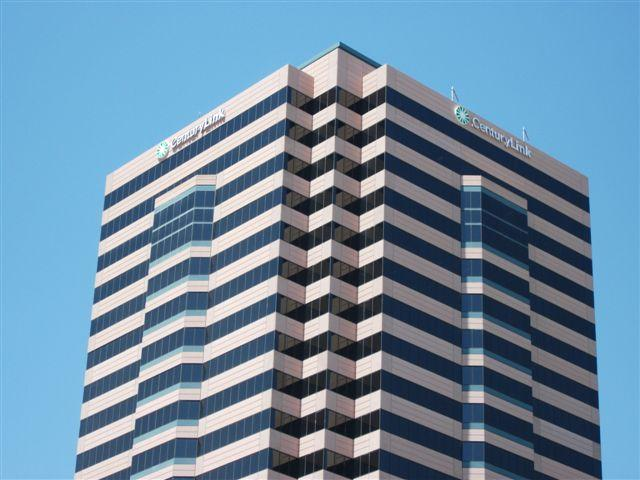CenturyLink's regional headquarters in Phoenix. The old Qwest sign was taken down earlier this week.