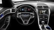 The interior of the 2012 Ford Explorer.