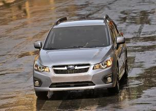 The 2012 Subaru Impreza hatchback.