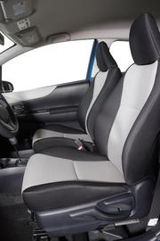 The interior of the 2012 Toyota Yaris.