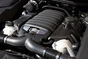 The V-8 engine of the Porsche Cayenne GTS.