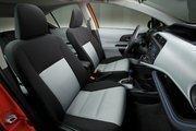 The interior of the Toyota Prius c.