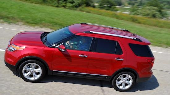 The 2012 Ford Explorer.