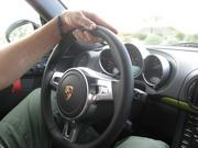 The interior of the 2012 Porsche Cayman R.