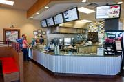 A look inside an America's Taco Shop.