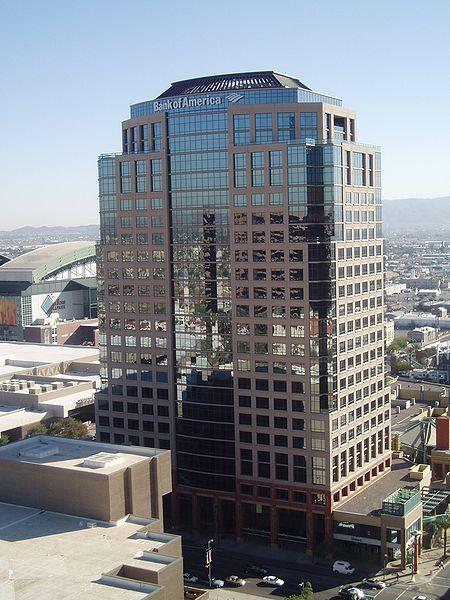 Bank of America has offices at the Collier Center in Phoenix.