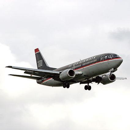 US Airways passengers arrived at their destinations on time 83.5 percent of the time in August.