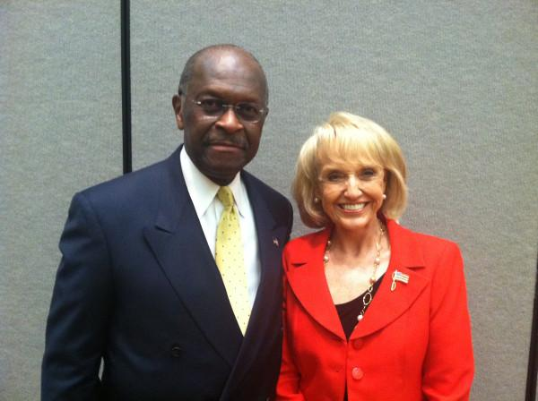 Herman Cain and Jan Brewer