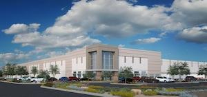 A rendering of the Estrella Logistics Center.