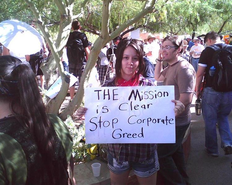 Occupy Wall Street protests hit downtown Phoenix earlier this year.