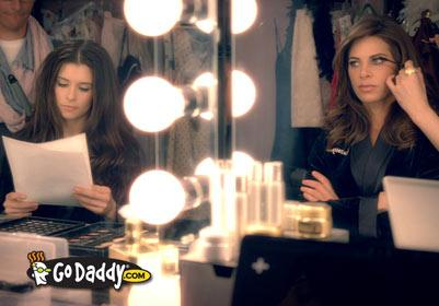 Past Go Daddy ads have featured Nascar driver Danica Patrick.