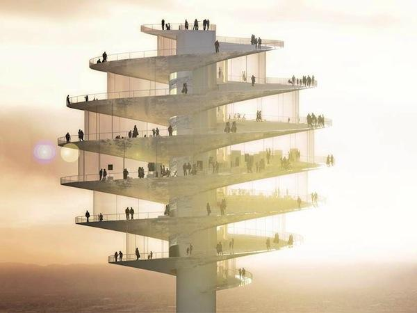 A rendering of the proposed Phoenix Observation Tower.