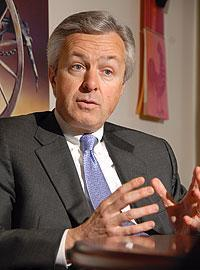 Wells Fargo Chairman and CEO John Stumpf is on the hunt for 'selective acquisitions' the bank's Chief Financial Officer Tim Sloan said Wednesday.
