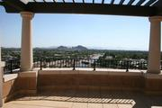 The deck overlooking downtown Scottsdale.