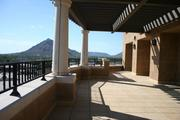 A view of the deck, which overlooks Scottsdale.