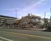 The demolition early Wednesday afternoon.