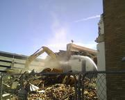 More of Wednesday's demolition.