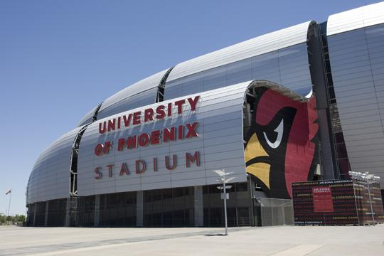 Prisma Graphics will provide new signage and printing services for the University of Phoenix Stadium in Glendale.