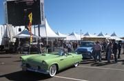 Lining up to enter the auction tent at Barrett-Jackson.