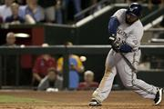 Prince Fielder takes a mighty hack.