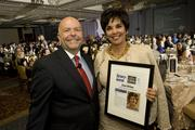 Phoenix Business Journal Publisher Don Henninger and one of the Most Admired CEOs of 2012, Lisa Urias.