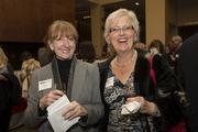 Karen Karr, left, and Rena Huber attend the 2013 Dynamic Women in Business event.