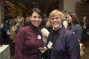 Alicia Tongo with Phoenix School of Law, left, and Margaret Mullen.
