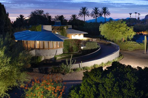 The David Wright house in Phoenix is up for sale for $2.38 million. It was designed and built by Frank Lloyd Wright for his son David and daughter-in-law Gladys Wright. Click the image above for more photos.