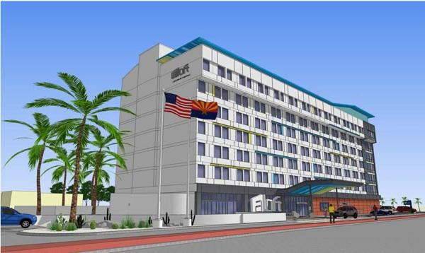 A rendering of the Aloft Tucson.