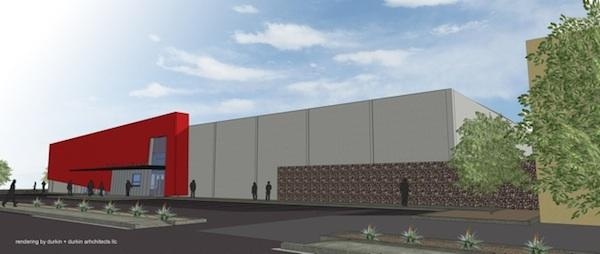 A rendering of Ballet Arizona's new headquarters to be built at 2835 E. Washington St. in Phoenix