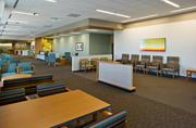 Located on the second floor of the MD Anderson Cancer Center, the Multispecialty Clinic features 30 exam rooms and this spacious waiting area.