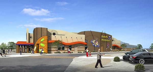 A rendering of Butterfly World, which will be part of a $170 million project on the Salt River Pima-Maricopa Indian Community in Scottsdale.