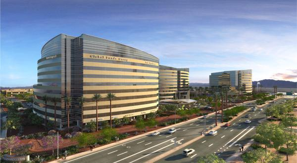 A rendering of Chandler 101, a new office park to be built at the southeast corner of the Loop 101 and Chandler Boulevard.