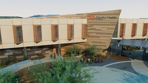 A rendering of Dignity Health's planned $44 million hospital in Glendale.