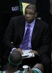 Boton Celtics Head Coach Doc Rivers.